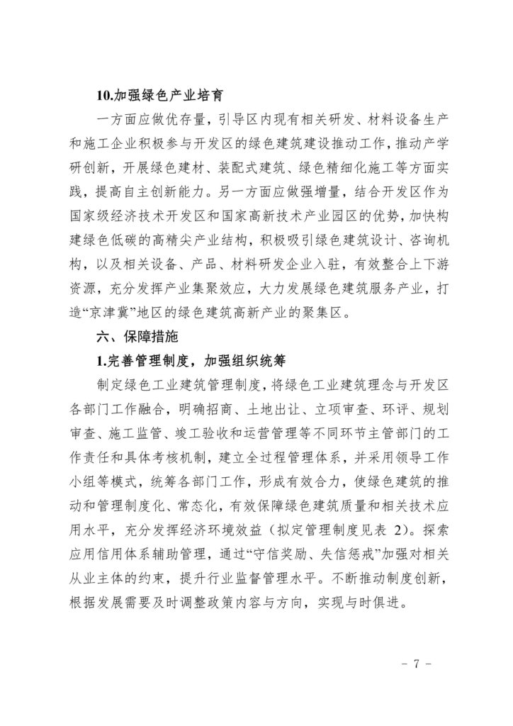 关于印发《北京经济技术开发区绿色工业建筑集中示范区创建方案》的通知(京建发〔2019〕26号)20190114