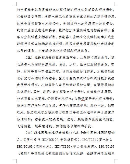 """0181030国家能源局综合司--关于征求加强储能技术标准化工作的实施方案意见的函"""""""